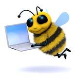 Laptop der Biene 3d lizenzfreie abbildung