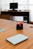 Laptop on a desk Stock Photo