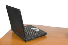 Laptop on desk Stock Image