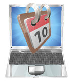 Laptop desk calendar concept Stock Images