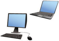 Laptop and desktop computers Stock Image