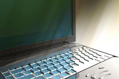 Laptop detail Stock Photography