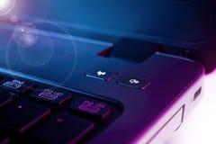 Laptop detail Royalty Free Stock Images