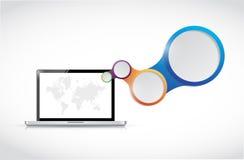Laptop diagram illustration design Royalty Free Stock Image