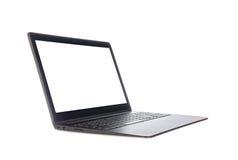 Laptop die op wit wordt geïsoleerd¯ Royalty-vrije Stock Foto's