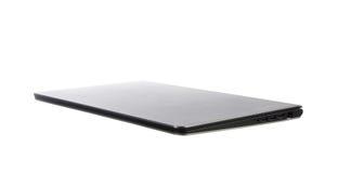 Laptop die op wit wordt geïsoleerd¯ Stock Afbeelding