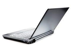 Laptop die op wit wordt geïsoleerda Stock Afbeeldingen