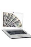 Laptop die op wit wordt geïsoleerde Royalty-vrije Stock Foto