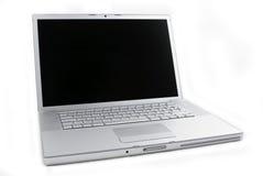 Laptop die op wit wordt geïsoleerde Stock Fotografie