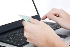 Laptop die op wit wordt geïsoleerdl Royalty-vrije Stock Foto