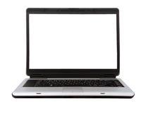 Laptop die op witte achtergrond wordt geïsoleerdl Stock Foto