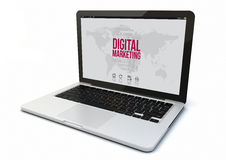 Laptop digital marketing Stock Photography