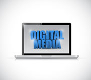 Laptop digital media illustration design Stock Image