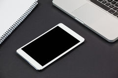 Laptop, digital tablet and diary Stock Photography