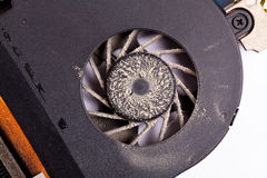 Laptop dirty fan front view Royalty Free Stock Images