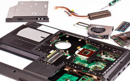 Laptop disassembling Stock Image
