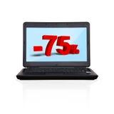 Laptop with discoun Royalty Free Stock Photos