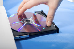 Laptop disk drive Royalty Free Stock Images