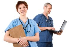 Laptop doctor Royalty Free Stock Photo