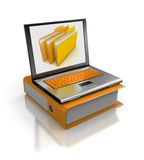 Laptop and document Royalty Free Stock Photo