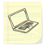 Laptop Doodle Illustration Royalty Free Stock Photography