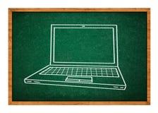 Laptop drawing Stock Photo