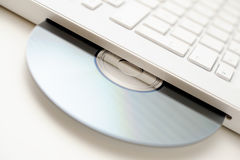 Laptop with DVD drive Royalty Free Stock Photo