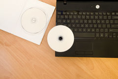 Laptop with DVD-rom Stock Images
