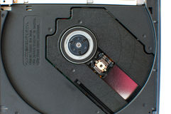 Laptop DVD tray close up Royalty Free Stock Photography