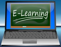 Laptop with E-Learning Stock Photography