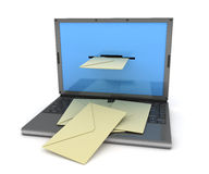 Laptop e-mail black Stock Photo