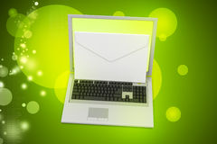 Laptop with e-mail Royalty Free Stock Image