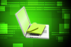 Laptop with e-mail Stock Image