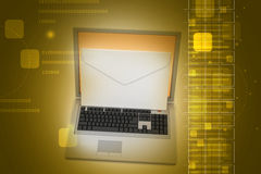 Laptop with e-mail Royalty Free Stock Photo