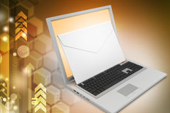 Laptop with e-mail Royalty Free Stock Images