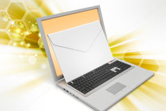 Laptop with e-mail Royalty Free Stock Photography