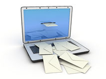 Laptop E-mail Stock Image