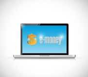Laptop and e-money illustration design Royalty Free Stock Photos