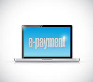 Laptop and e payment illustration design royalty free illustration