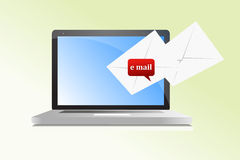 Laptop email Royalty Free Stock Images