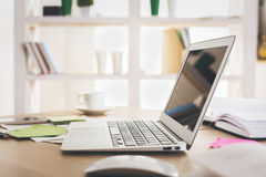 Laptop with empty dispay Stock Image