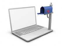 Laptop - Empty Mailbox Royalty Free Stock Photo