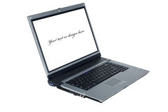 Laptop with empty space Royalty Free Stock Photos