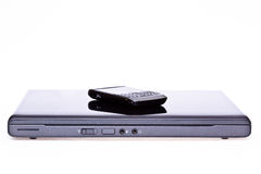Laptop en de Mobiele Telefoon van de Cel Royalty-vrije Stock Fotografie