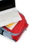 Laptop en rugzak Stock Foto's
