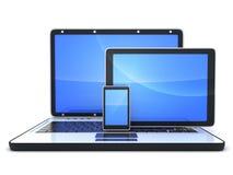 Laptop en stootkussen stock illustratie
