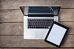 Laptop en tablet Stock Foto