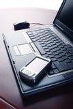 Laptop en van de Zak PC stock foto's