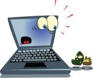 Laptop en virussen stock illustratie