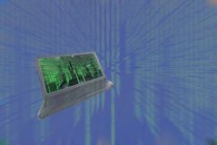 Laptop, enter the matrix Stock Photography
